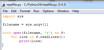 How to write a Python program that reads a text file that I can run