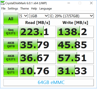 Is the eMMC storage in some netbooks faster than traditional