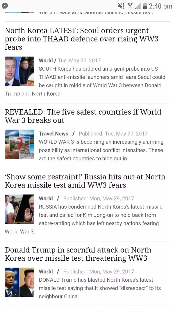 are the daily star and daily express lying about world war 3 to