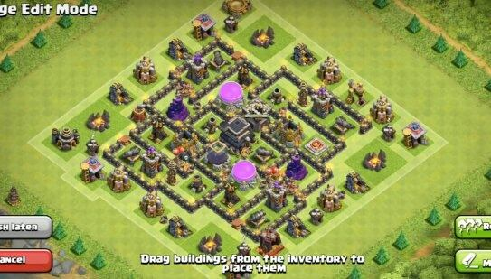 Clash Of Clans Base Town Hall 7