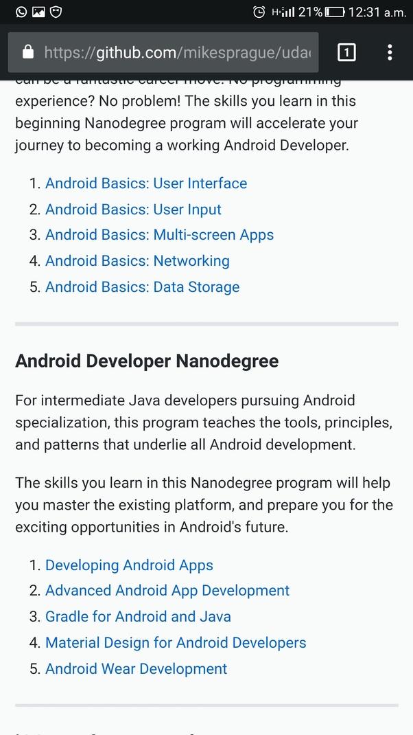 Udacity Android Basics