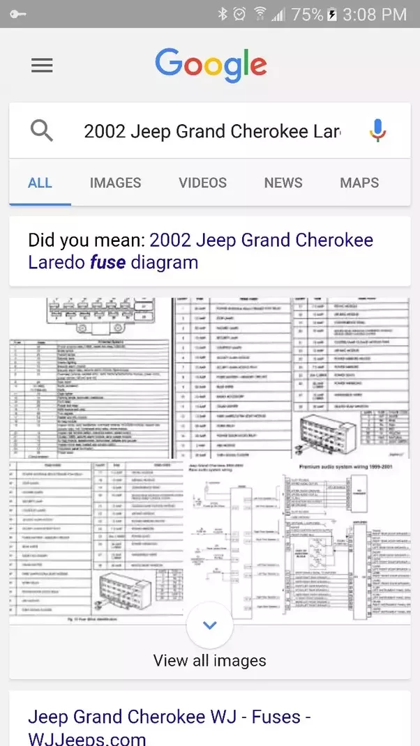 2002 Jeep Grand Cherokee Laredo Interior Fuse Box Diagram