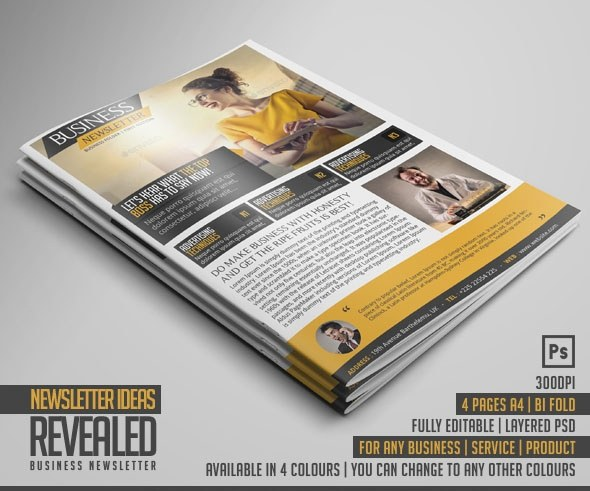 Where Can I Find Free And Beautiful Newsletter Templates Quora - Print newsletter templates