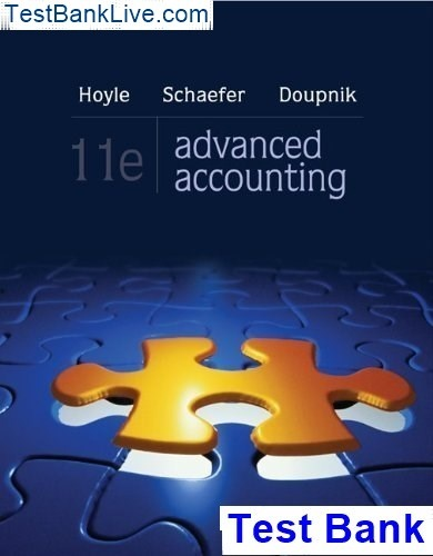 advanced accounting hoyle 10th edition solutions manual free download