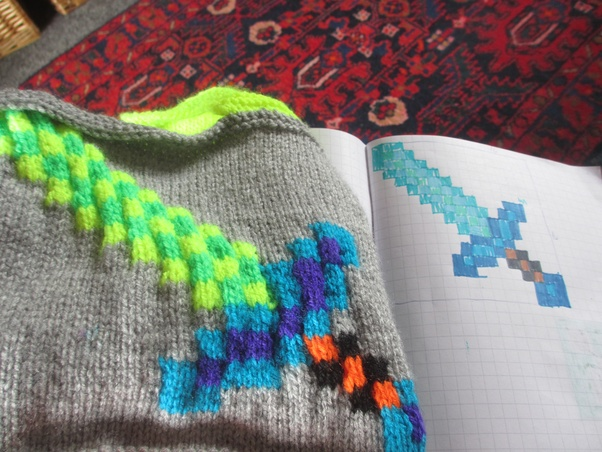 How To Knit Letters And Two Color Patterns In General Quora