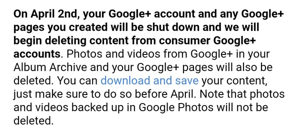 Google+ is going to shut down on April 2nd  Will Google