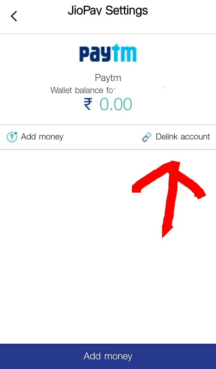 Why is my Paytm wallet balance not showing on my Jio app when I