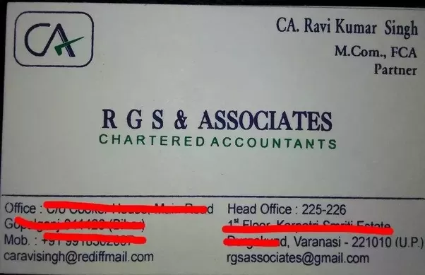 What are some chartered accountant visiting card designs quora a friends ca friedricerecipe Gallery