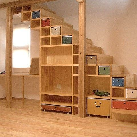 Attic can be utilized as a storage area too. Hereu0027s an ex&le of storage under stair projects & Storage ideas for large items in a small house with no budget? - Quora