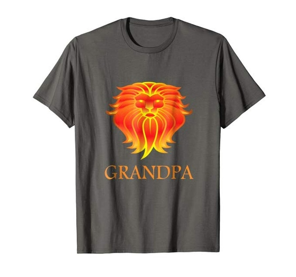 Grandfather Wild Lion Shirt Idea For Your Brave Dad Who Care So Much About His Family And Always Protect Support Them