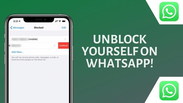 Has blocked me on whatsapp