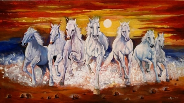 What Seven Horse Painting Hangs In A Bedroom Quora