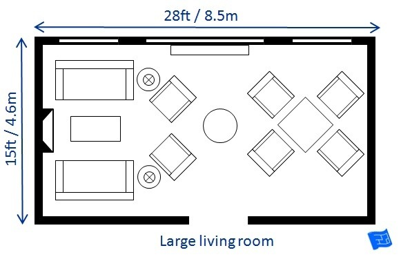 Average Sized Living Room Dimensions