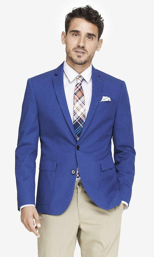 What color shirt can be worn with Dark Navy blazer and ...