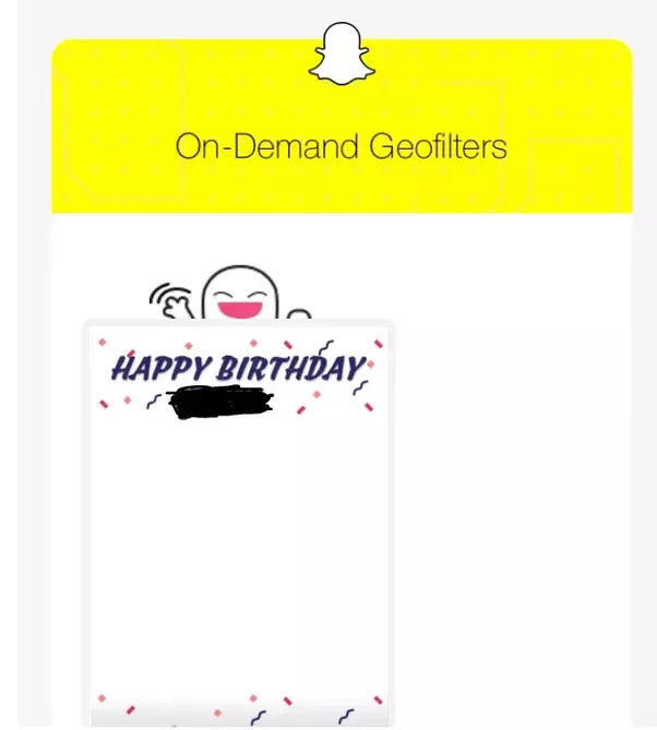 on demand geo filters makes events very special as snapchat allows users to choose from their template and also allows users to create and submit their own