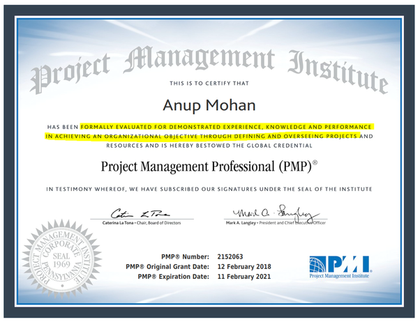 How will the PMP certification be useful for the clinical research ...