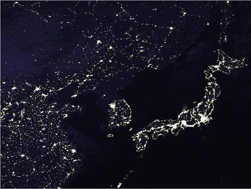 Why is my life like north korea quora this is the map of east china korean peninsula and japan in the nighttime just see how north korea disappeared from the map except for that one little gumiabroncs