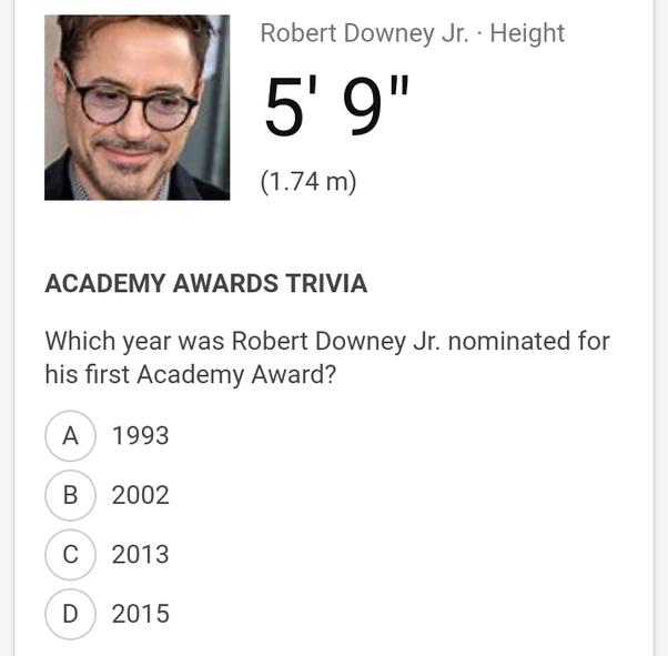 robert downey jr height