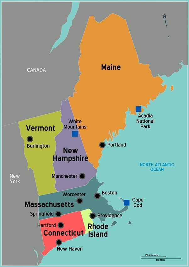 state of new england map What Is The Largest New England State Quora