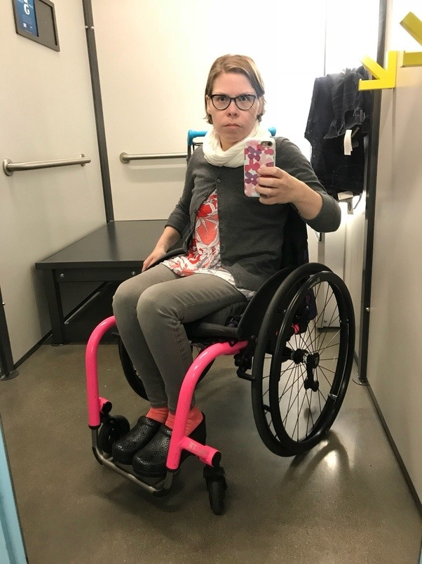 Has Anybody Ever Seen A Person Using A Wheelchair Going In Or Out Of A Restroom For The Disabled