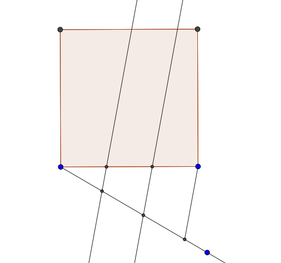 how to cut a square into 5 equal parts