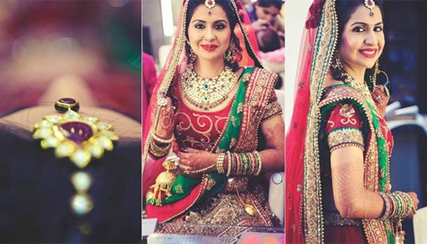 7b3e79ef07 No Indian wedding will complete without having functions like Mehandi,  Sangeet, Haldi and Reception. So, it is essential that you choose your  bridal jewelry ...