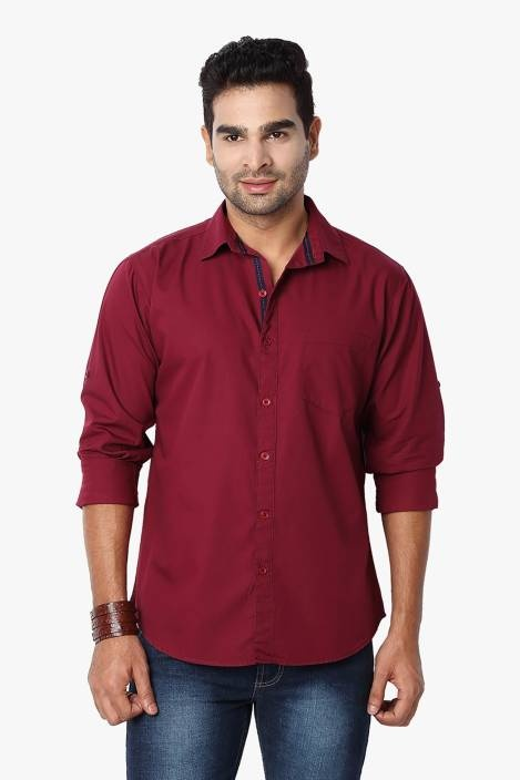 what goes with burgundy shirt
