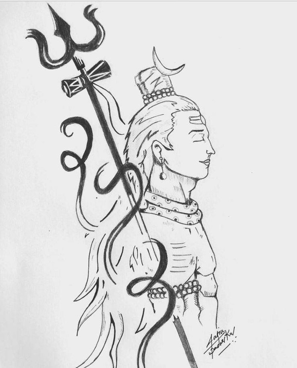 What is the best sketch of Shiva? - Quora