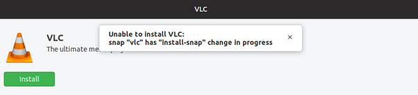 I am not able to install VLC in Ubuntu, It is showing