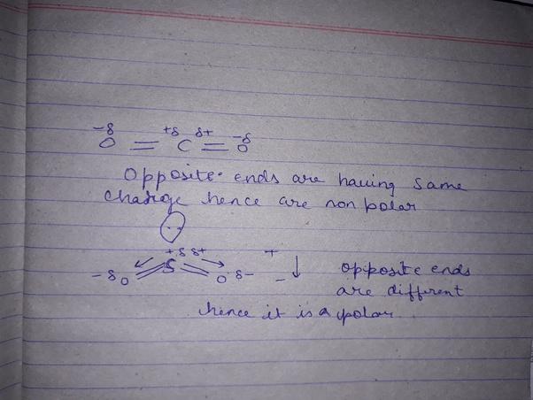 Co2 Is Nonpolar Whereas So2 Is Polar Why Quora