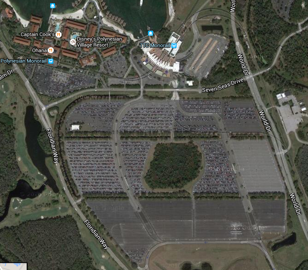 Why do walt disney world theme parks have more handicapped parking heres a google maps satellite photo of the magic kingdoms parking lot at walt disney world gumiabroncs Image collections