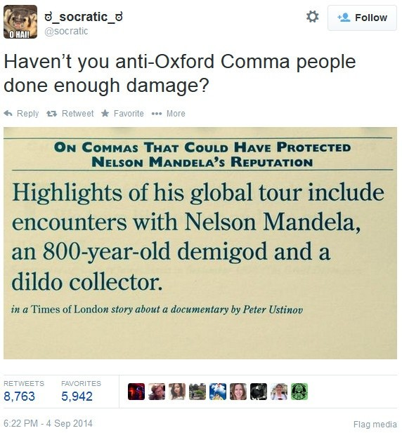 Should The Oxford Comma Be Eliminated Quora