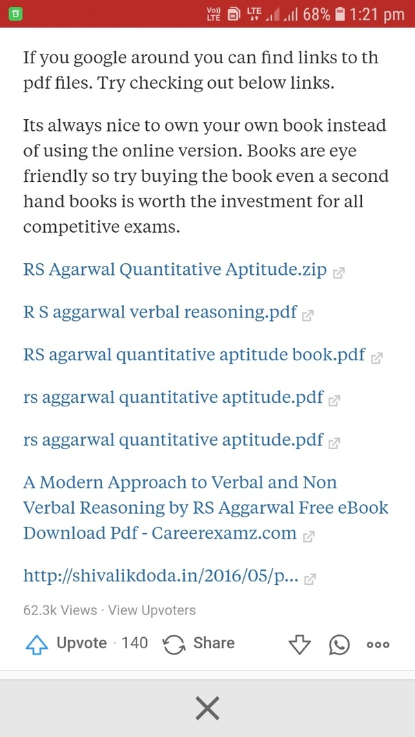 Can I get a PDF file of the RS Agarwal NDA maths book? - Quora