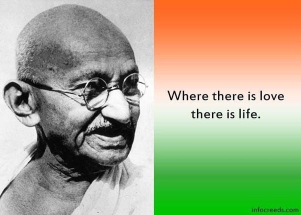 2) Best 15 Famous Mahatma Gandhi Quotes On Life