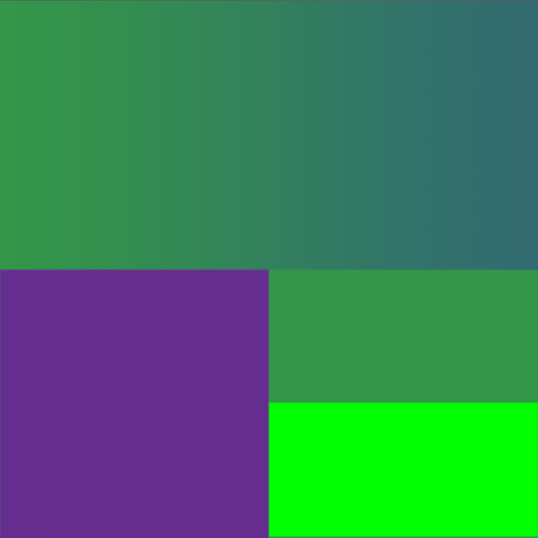 4bdf6b98c8c0bd The gradient at the top transits from purple averaged with the one green to  the other green. Not a very exciting hue