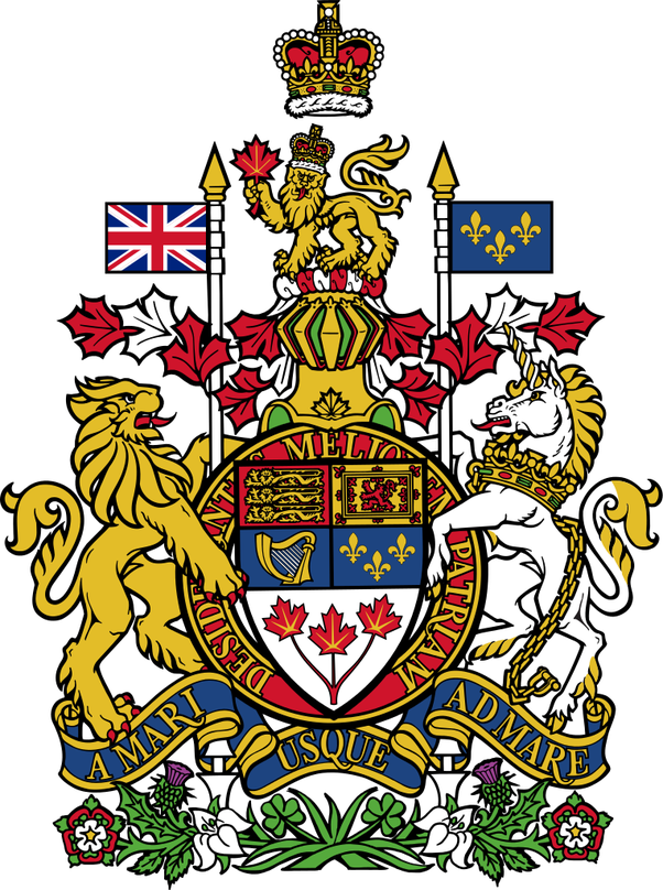 Why Does The Canadian Coat Of Arms Feature A Lion And Unicorn