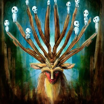 What are the little white things in princess mononoke quora here the deer god is the lord of the forest who has the power to give and take life the kodama a bit lower in heirarchy are spirits that live in the voltagebd Image collections