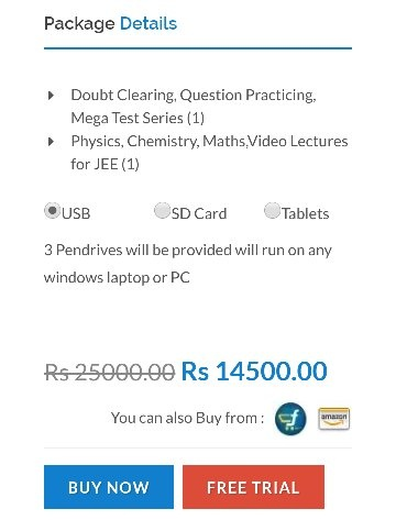 I need offline lectures in a USB pendrive or CD  Where can I