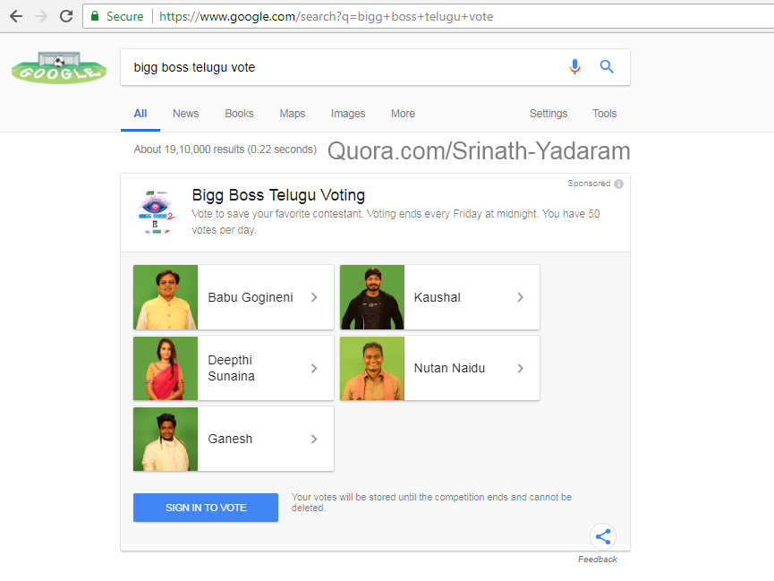 How to vote for Bigg Boss Telugu contestants - Quora
