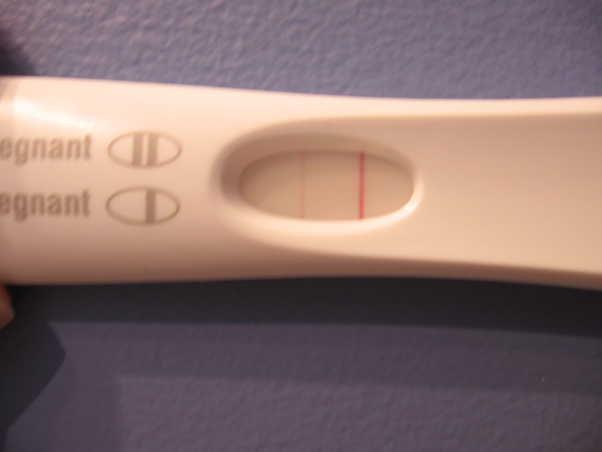 What happens when only one line shows on a pregnancy test