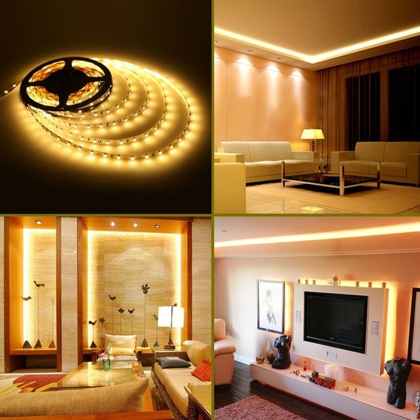 Flexible LED Strip Lights,12V, LED Tape, Warm White, 300 Units 3528 LEDs,  Non Waterproof, LED Rope Light, 16.4Ft 5M Spool