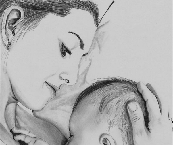 Heart Heart Touching Sketch Images