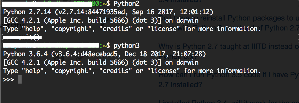 What's the best way to set up Python 2 7 and 3 4 in parallel on a