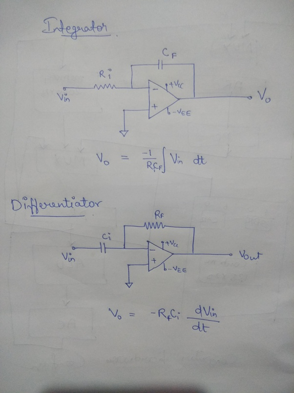 What are integrator and differentiator circuits? - Quora