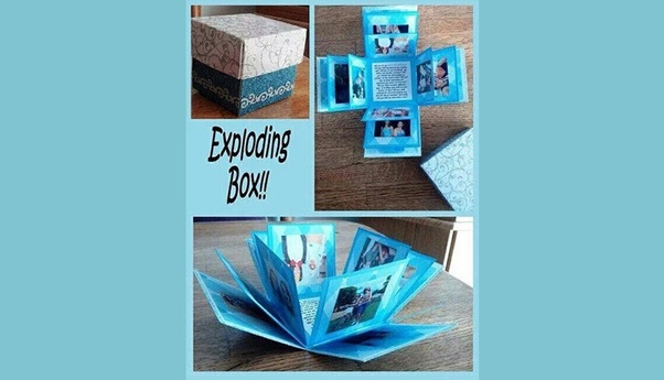 The Exploding Box Is A Cute Little Al In Which You Can Combine Your Pictures And Reminisce About Some Of Memorable Moments Ve Spent With Them