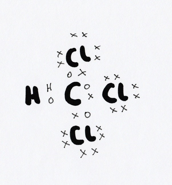 what is the lewis dot structure of chcl3? - quora chcl3 dot diagram ncl3 dot diagram #7