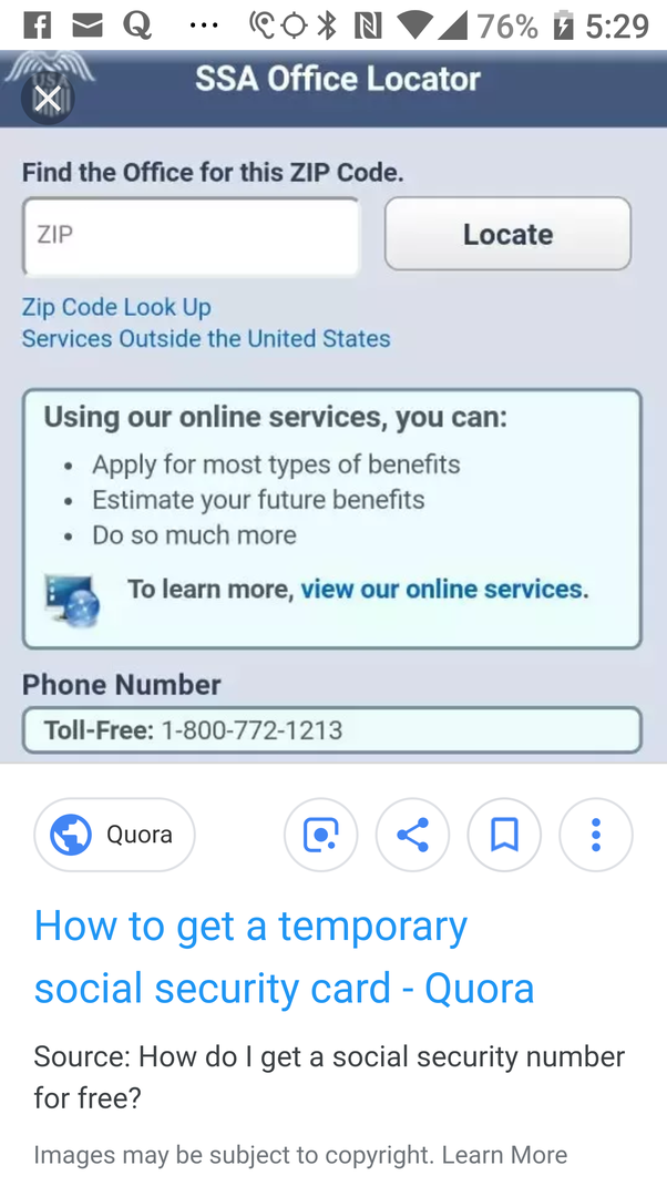 Can you get a temporary social security card online