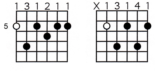 How to play the dominant 7 barre chord on the 5th fret without ...