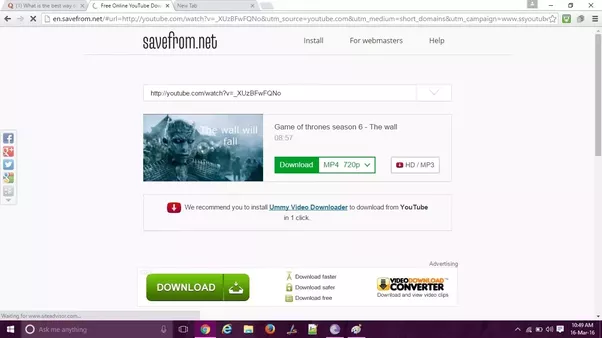 What is the best way to download youtube videos for free quora download page where you can select the quality of the video like 1080p or 720p based on the original video which was uploaded etc in the drag and drop ccuart Image collections