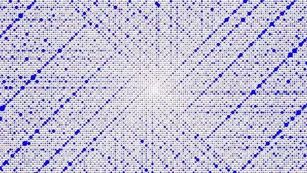 Here All The Blue Dots Are Prime Numbers.